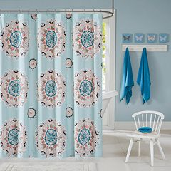 INK+IVY Kids Hana Printed Shower Curtain
