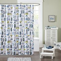 INK+IVY Kids Road Trip Printed Shower Curtain