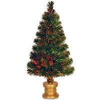 National Tree Company 32 in Fiber Optic Evergreen Firework Artificial Christmas Tree