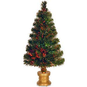 National Tree Company 2 6 Ft Led Fiber Optic Battery Operated Artificial Christmas Tree Floor Decor