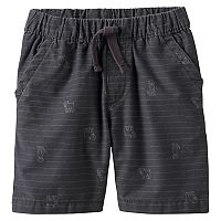 Toddler Boy Jumping Beans® Patterned Canvas Shorts