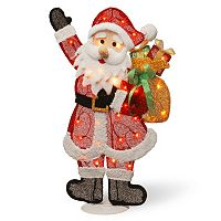 National Tree Company Flat Santa Christmas Floor Decor
