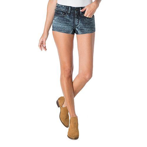 a52bbd7f87 Juniors' DENIZEN from Levi's High-Waisted Denim Shortie Shorts