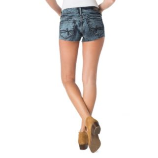 Juniors' DENIZEN from Levi's High-Waisted Denim Shortie Shorts