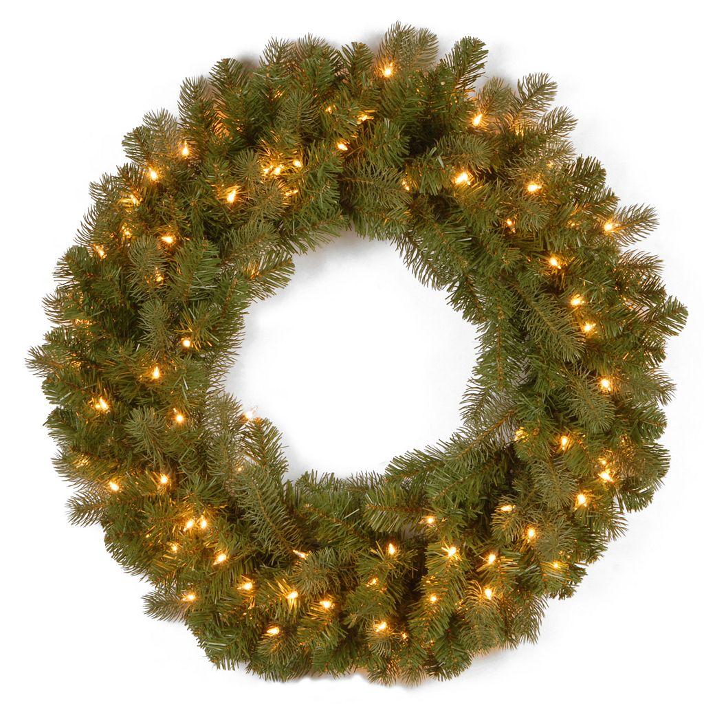 National Tree Company 30-in. Douglas Fir Pre-Lit Artificial Christmas Wreath