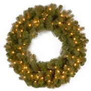 National Tree Company 30 in Douglas Fir Pre-Lit Artificial Christmas Wreath