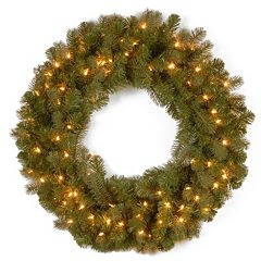 National Tree Company 30-in. Douglas Fir Pre-Lit Artificial Christmas Wreath