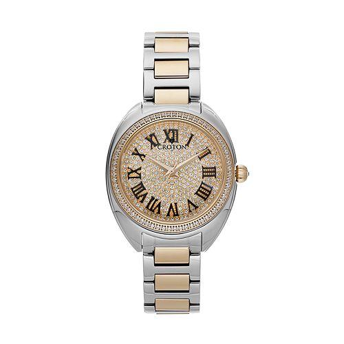 Croton Women's Austrian Crystal & Cubic Zirconia Stainless Steel Swiss Watch