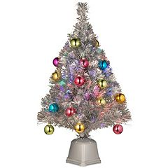 National Tree Company 2.6-ft. Multicolor LED Fiber-Optic Artificial Christmas Tree Floor Decor