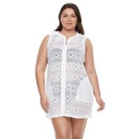 Plus Size Apt. 9® Hooded Lace Cover-Up
