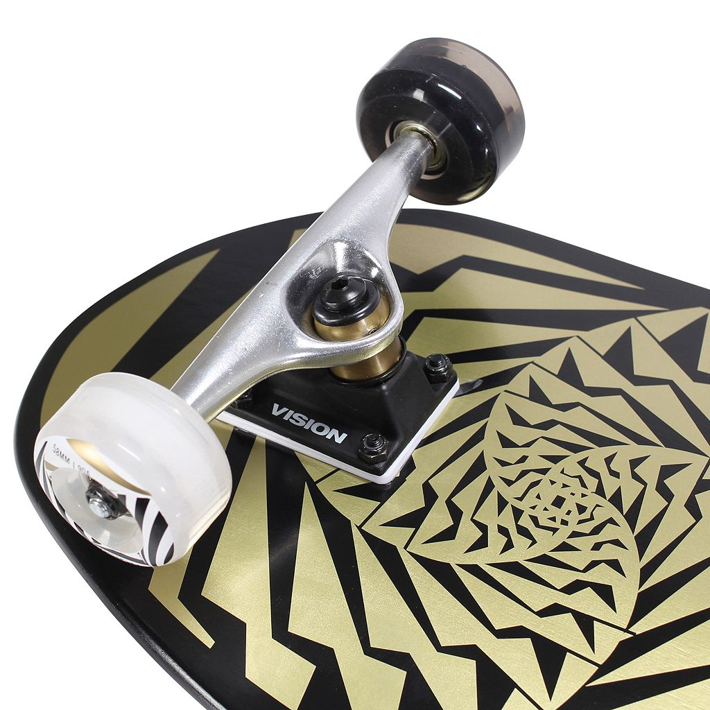 Vision Original Gold 31-Inch Swirl Graphic Skateboard