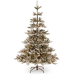National Tree Company 7.5-ft. Pre-Lit Artificial Snowy Imperial Blue Spruce Christmas Tree