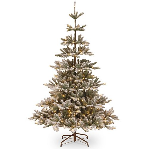 national tree company 75 ft pre lit artificial snowy imperial blue spruce christmas tree - Blue Spruce Artificial Christmas Tree