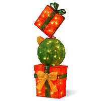 National Tree Company Gift Box Tower Christmas Floor Decor