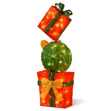 National Tree Company Gift Box Tower Christmas Floor Decor