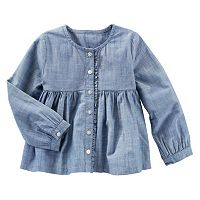 Toddler Girl OshKosh B'gosh® Chambray Empire Waist Button-Down Shirt