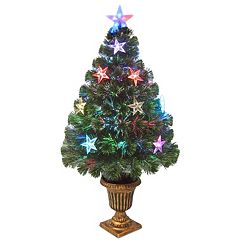 National Tree Company 36-in. Fiber Optic Evergreen Firework Artificial Christmas Tree