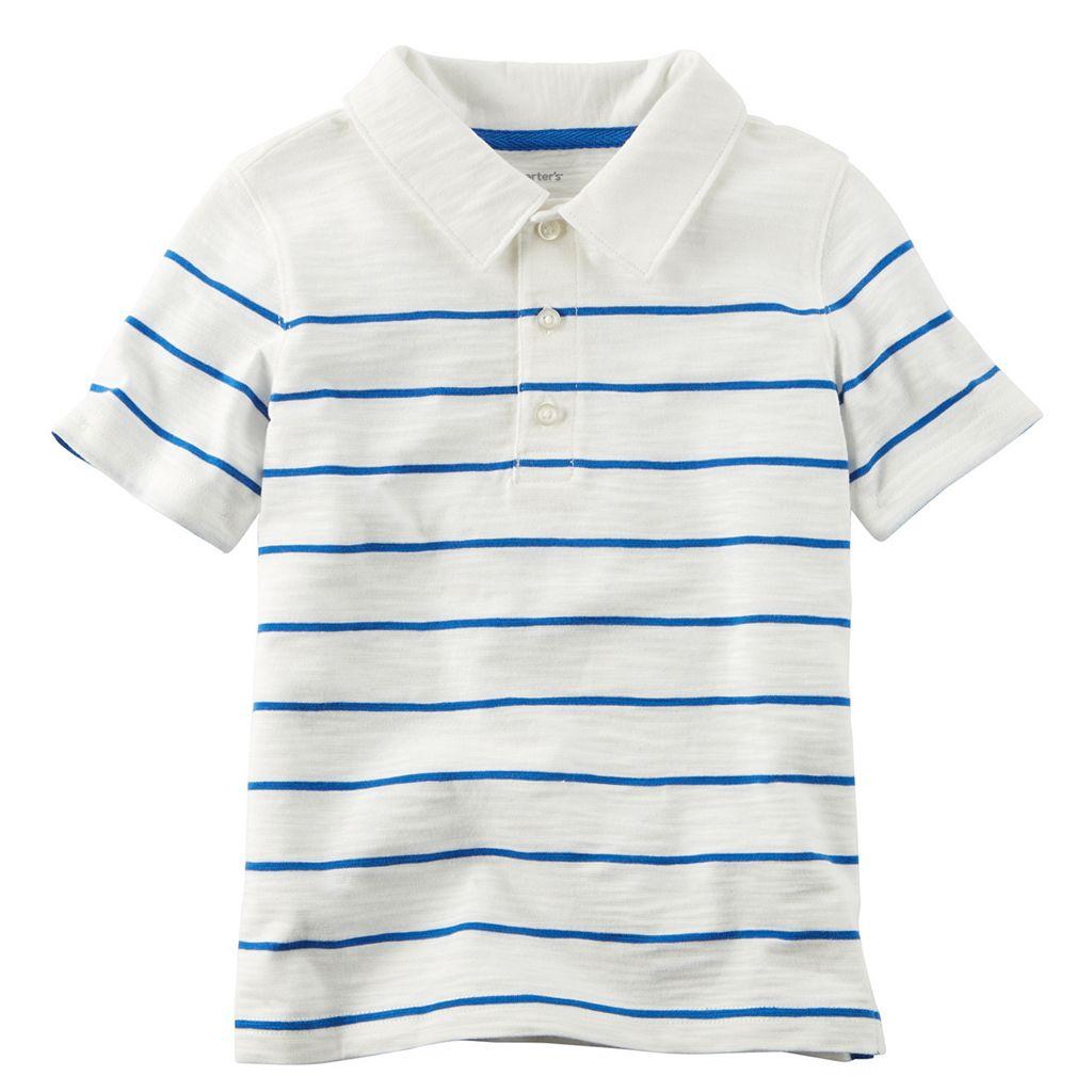 Baby Boy Carter's Slubbed Thin Stripe Polo