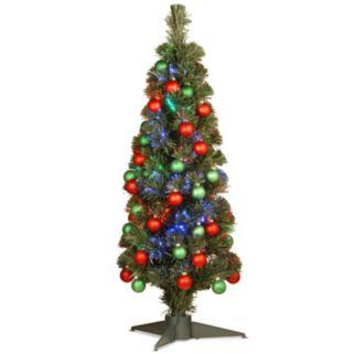 National Tree Company 3-ft. Multicolor LED Fiber-Optic Artificial Christmas Tree Floor Decor