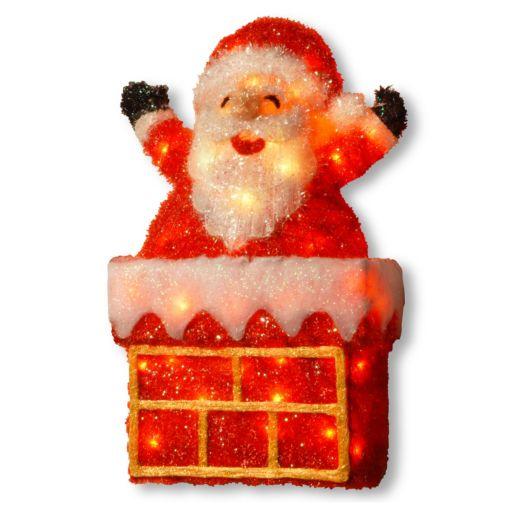 National Tree Company Santa On Chimney Christmas Floor Decor