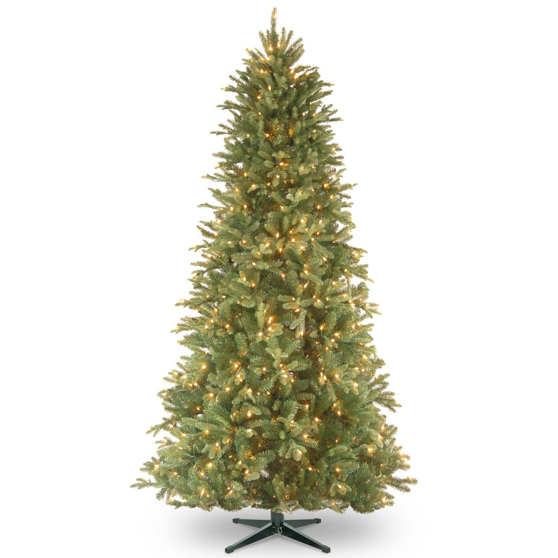 National Tree Company 6.5 Ft. Tiffany Fir Slim Pre Lit Artificial Christmas  Tree