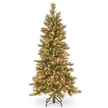 National Tree Company 6.5-ft. Pre-Lit Dual Color Glittering Pine Artificial Christmas Tree Floor Decor