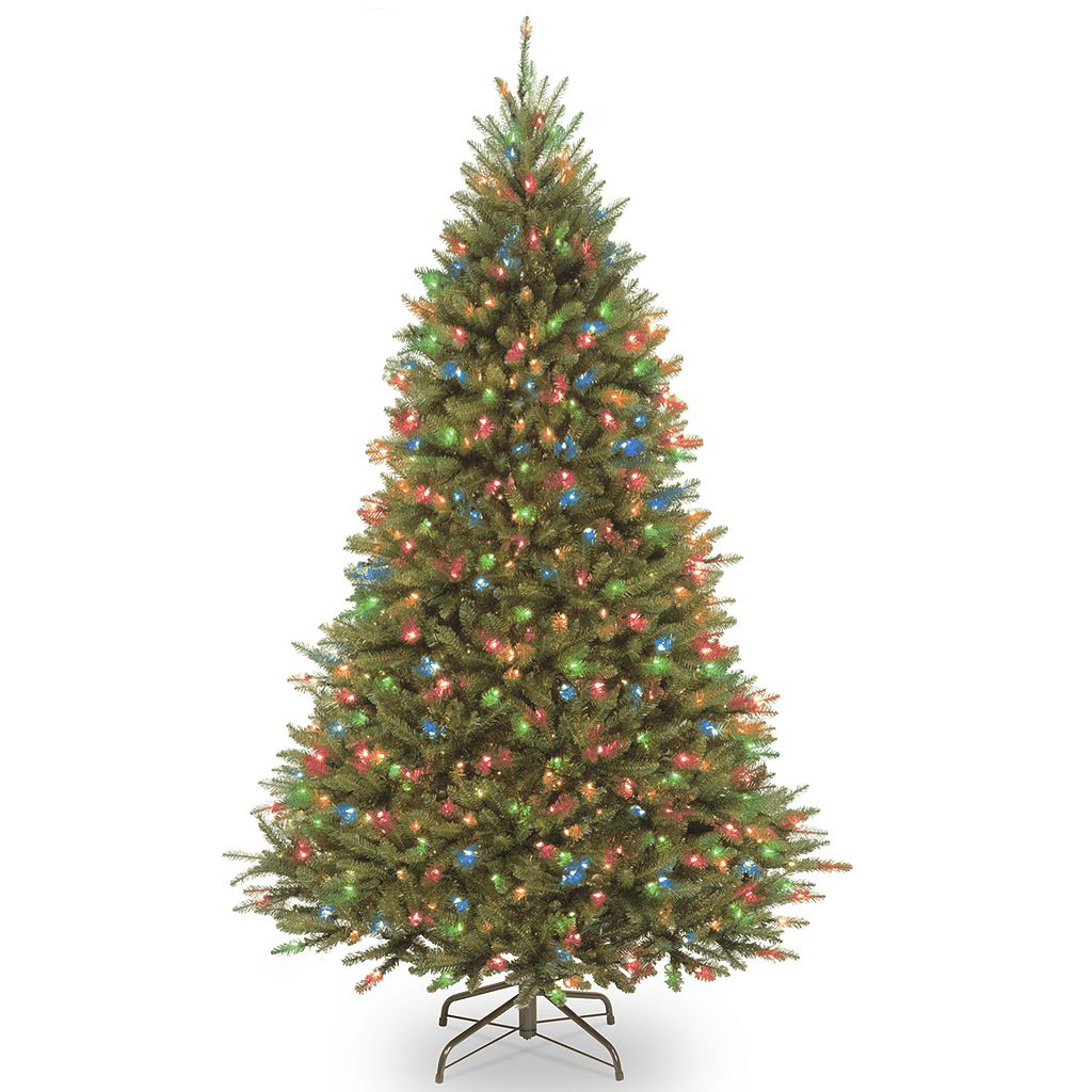 National Tree Company 7.5-ft. Kingswood Fir Medium Hinged Pre-Lit Artificial Christmas Tree
