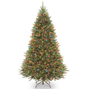 National Tree Company 7.5-ft.  Kingswood Fir Medium Hinged Pre-Lit Artificial Christmas Tree