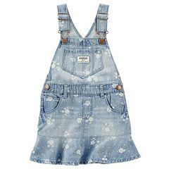 Toddler Girl OshKosh B'gosh® Denim Floral Print Peplum Jumper