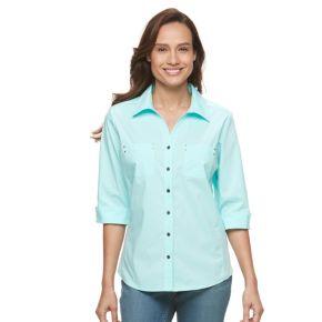 Petite Croft & Barrow® Knit-to-Fit Shirt
