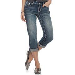Women's Apt. 9® Embellished Midrise Capri Jeans