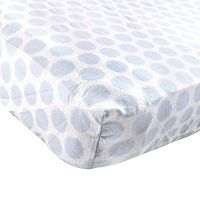 Luvable Friends Polka-Dot Flannel Fitted Crib Sheet