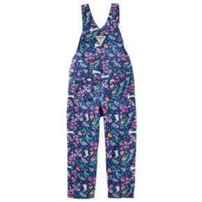 Toddler Girl OshKosh B'gosh® Flower & Bunny Print Twill Overalls