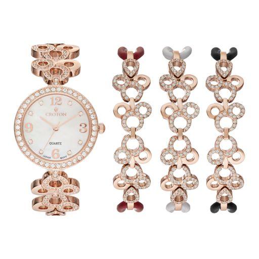 Croton Women's Austrian Crystal Watch & Bracelet Set