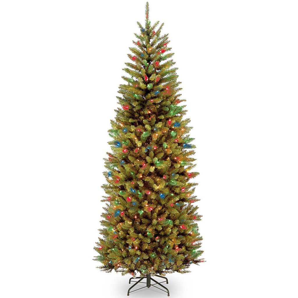 National Tree Company 7.5-ft. Kingswood Fir Slim Hinged Pre-Lit Artificial Christmas Tree