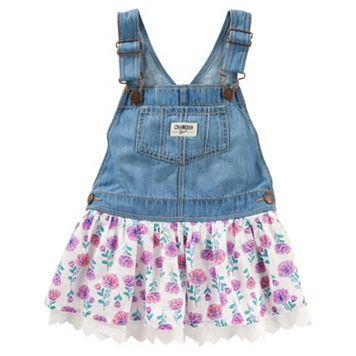 Toddler Girl OshKosh B'gosh® Floral Denim Jumper