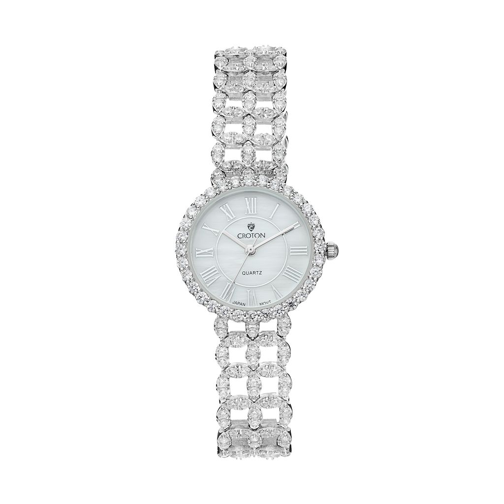 Croton Women's Cubic Zirconia Sterling Silver Watch - SS202116CZMP