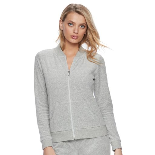 Women's Juicy Couture Gray Velour Jacket