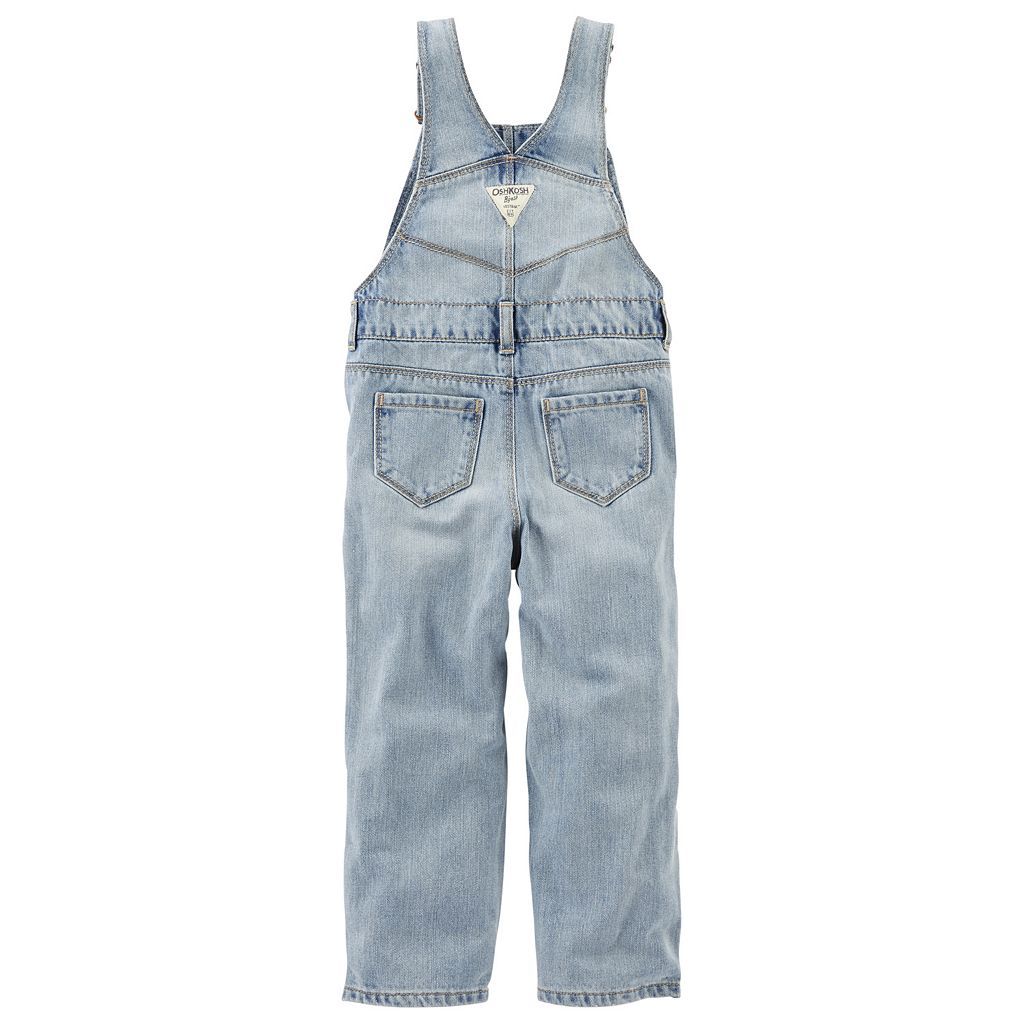 Toddler Girl OshKosh B'gosh® Heart Applique Denim Overalls