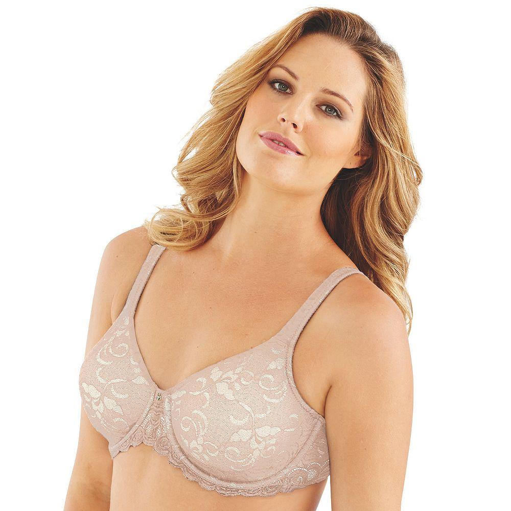Lilyette by Bali® Bras: Beautiful Support Lace Full-Figure Minimizer Bra LY0977