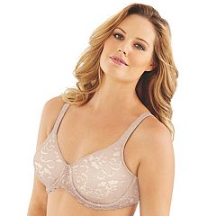 ab85bfe4929 Lilyette by Bali Bras  Beautiful Support Lace Full-Figure Minimizer Bra  LY0977