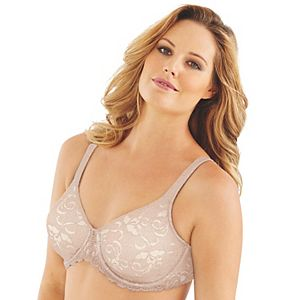 Lilyette by Bali Bras: Beautiful Support Lace Full-Figure Minimizer Bra LY0977