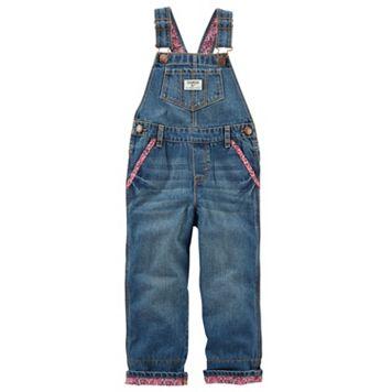 Toddler Girl OshKosh B'gosh® Cuffed Denim Overalls