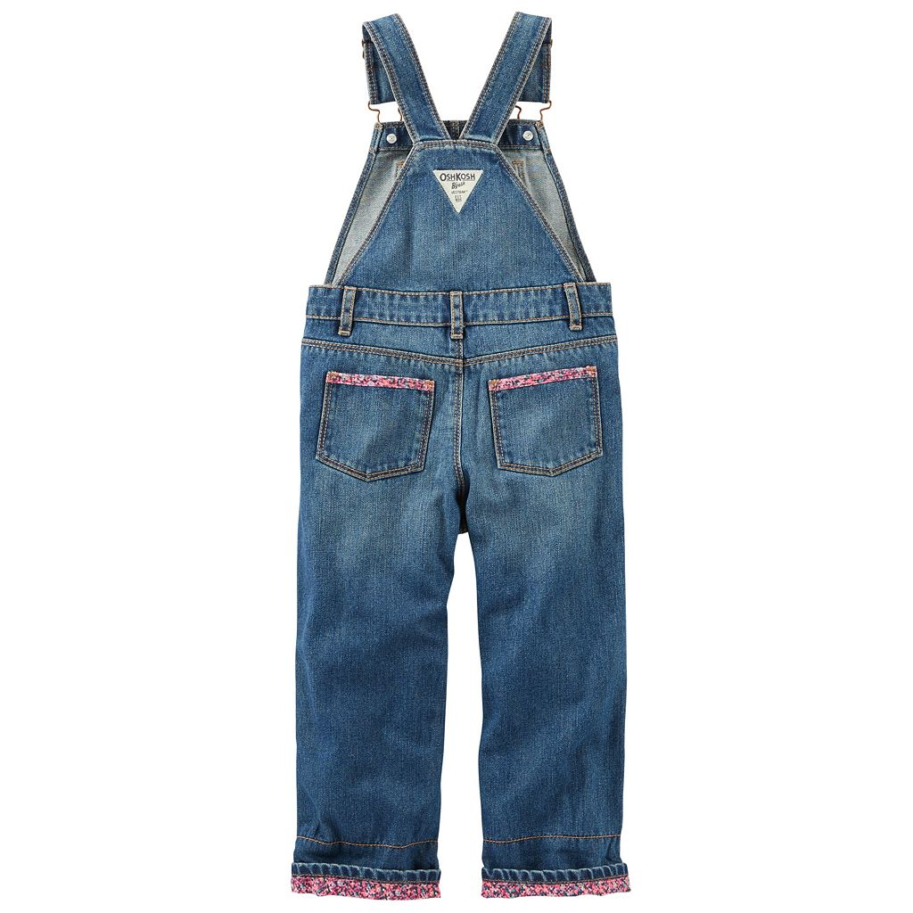 Toddler Girl OshKosh B'gosh® Cuffed Denim Overalls