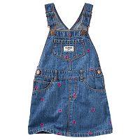 Toddler Girl OshKosh B'gosh® Embroidered Hearts Denim Jumper