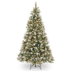 National Tree Company 7.5-ft. Frosted Alaskan Pine Pre-Lit Artificial Christmas Tree
