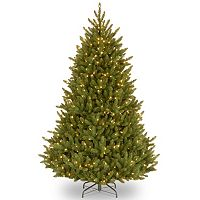 National Tree Company 7.5-ft. Fraser Medium Fir Hinged Pre-Lit Artificial Christmas Tree