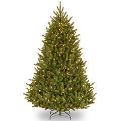 National Tree Company 7.5-ft. Fraser Medium Fir Hinged Pre-Lit Artificial Christmas Tree
