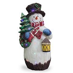 National Tree Company 36-in. Pre-Lit Snowman & Tree Christmas Decor