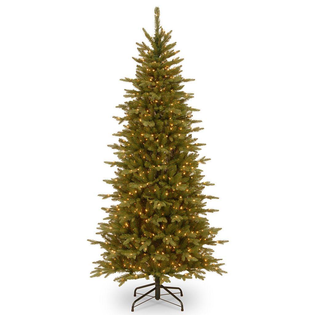 National Tree Company 7.5-ft. Pre-Lit Artificial Sierra Spruce Slim Christmas Tree
